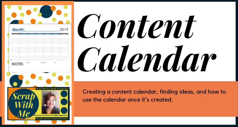 How to create a content calendar with example template